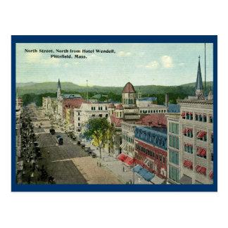 North Street, Pittsfield 1912 Vintage Postcard