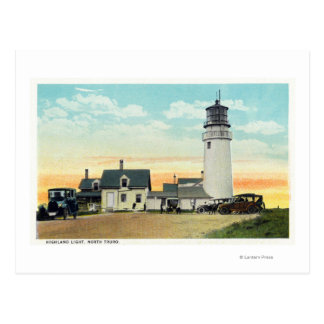 North Truro Highland Lighthouse View Postcard