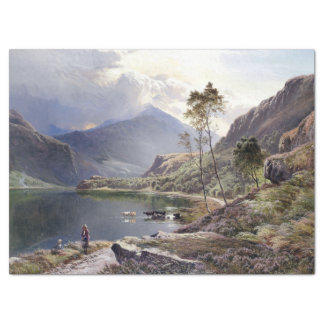 North Wales Lake Cows Shepherd UK Tissue Paper