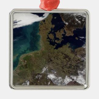 North Western Europe Silver-Colored Square Ornament