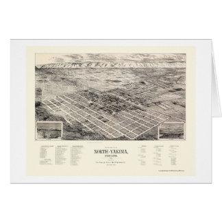 North Yakima, WA Panoramic Map - 1889 Card