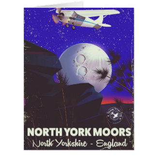 North York Moors England travel poster Card