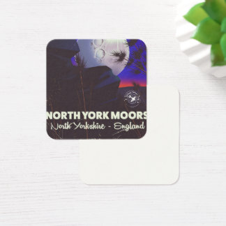North York Moors England travel poster Square Business Card