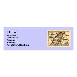 Northamptonshire County Map, England Mini Business Card