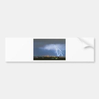 Northeast Colorado Lightning Strike and City Light Bumper Sticker