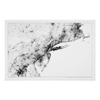 Northeast Corridor Census Dotmap Poster