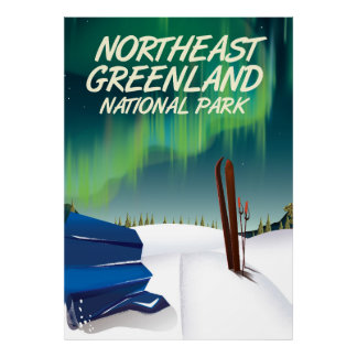 Northeast Greenland travel poster