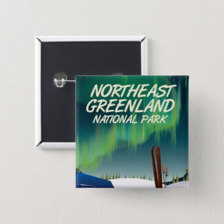 Northeast Greenland travel poster 2 Inch Square Button
