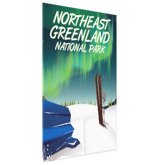 Northeast Greenland travel poster Canvas Print