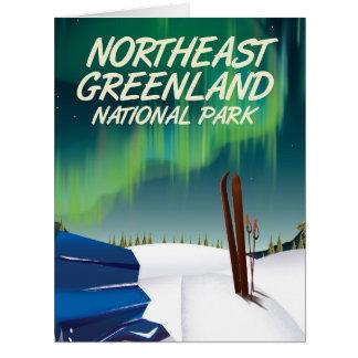 Northeast Greenland travel poster Card