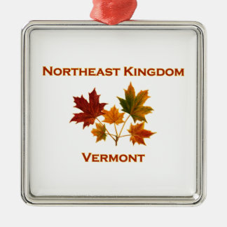 Northeast Kingdom (NEK) Vermont Maple Leaves Metal Ornament