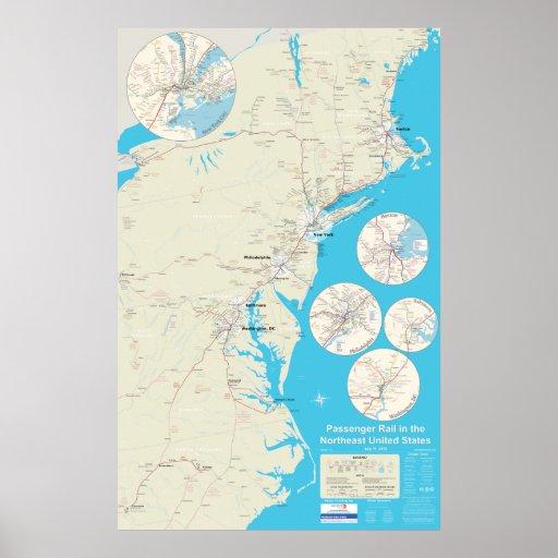 Northeast Rail Map version 1.0 Poster
