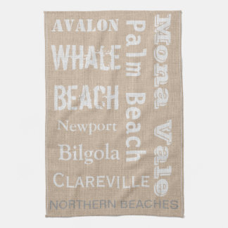 Northern Beaches linen-look Kitchen Towel