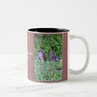 Northern Bobwhite Quail Two-Tone Coffee Mug