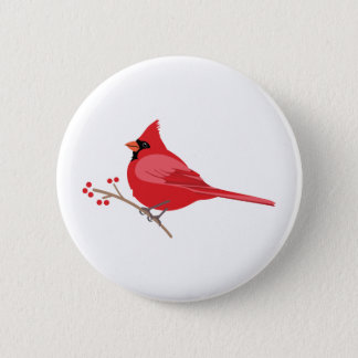 Northern Cardinal 2 Inch Round Button