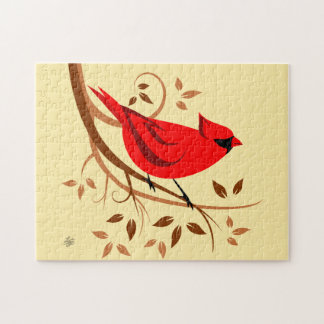 Northern Cardinal Art Puzzles