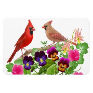 Northern Cardinal Birds Premium Magnet