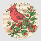 Northern Cardinal Classic Round Sticker