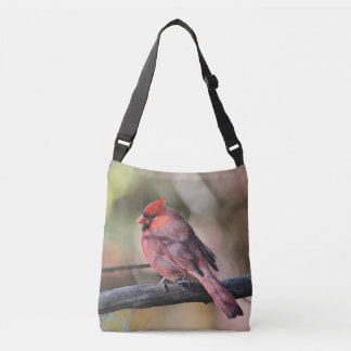 Northern cardinal crossbody bag