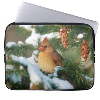 Northern Cardinal in tree, Illinois Laptop Sleeve