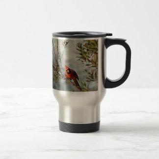 Northern Cardinal in Wax Myrtle Travel Mug