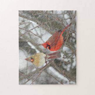 Northern Cardinal Jigsaw Puzzle