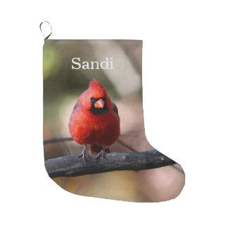 Northern Cardinal Large Christmas Stocking