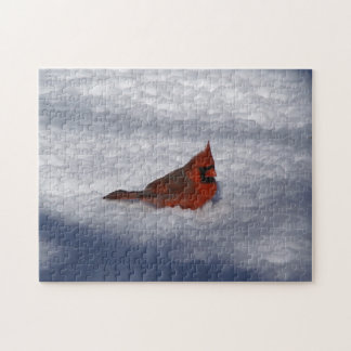 Northern Cardinal, Photo Puzzle. Jigsaw Puzzle