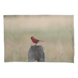 Northern cardinal pillowcase