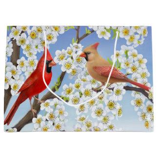 Northern Cardinal Red Birds Gift Bag