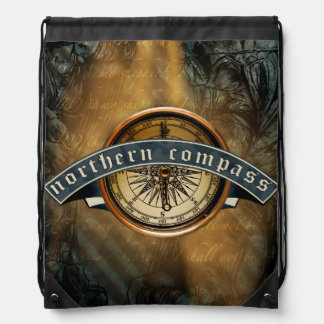 Northern Compass Drawstring Backpack