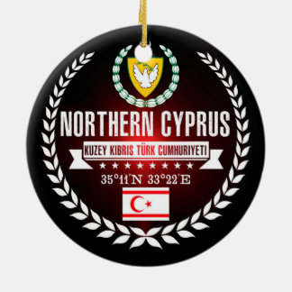 Northern Cyprus Ceramic Ornament