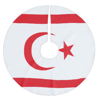 Northern Cyprus Flag Brushed Polyester Tree Skirt