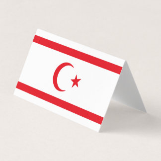 Northern Cyprus Flag Business Card