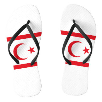 Northern Cyprus Flag Flip Flops