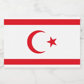Northern Cyprus Flag Food Label