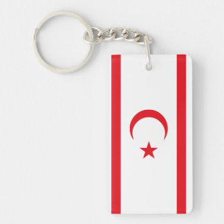 Northern Cyprus Flag Keychain