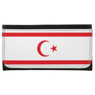 Northern Cyprus Flag Leather Wallet