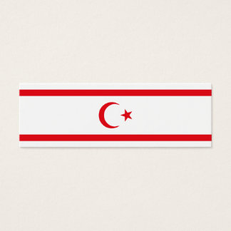Northern Cyprus Flag Mini Business Card