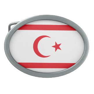 Northern Cyprus Flag Oval Belt Buckles