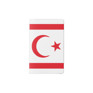 Northern Cyprus Flag Pocket Moleskine Notebook