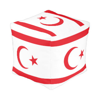 Northern Cyprus Flag Pouf