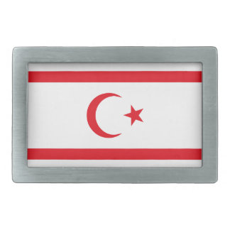 Northern Cyprus Flag Rectangular Belt Buckle