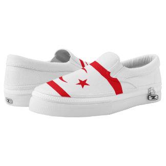 Northern Cyprus Flag Slip-On Sneakers