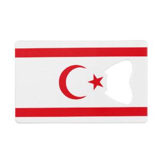 Northern Cyprus Flag Wallet Bottle Opener