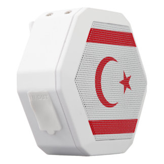 Northern Cyprus Flag White Bluetooth Speaker