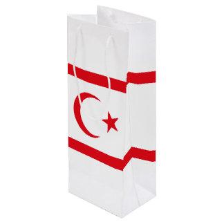 Northern Cyprus Flag Wine Gift Bag