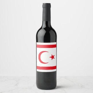 Northern Cyprus Flag Wine Label