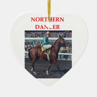 northern dancer ceramic ornament