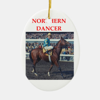 northern dancer ceramic oval ornament